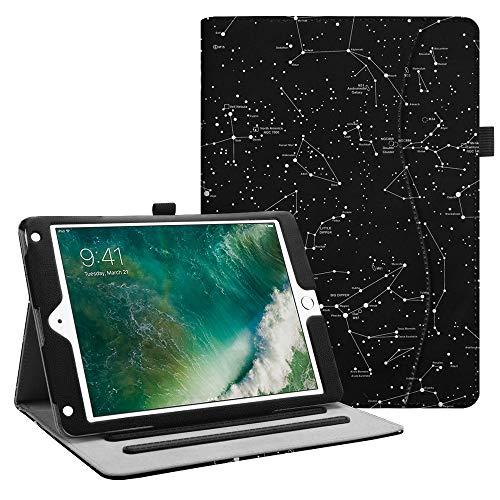 Fintie Hülle für iPad 9.7 Zoll 2018 2017 / iPad Air 2 / iPad Air - [Eckenschutz] Multi-Winkel Betrachtung Folio Stand Schutzhülle Case mit Dokumentschlitze, Auto Sleep/Wake, Sternbild