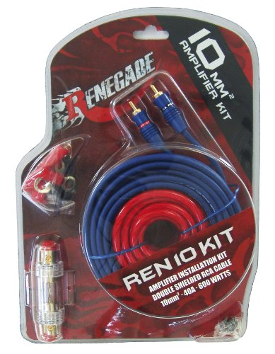 Renegade REN10KIT RCA RCA Black, Blue, Red Cable Interface/Gender Adapter – Cable Interface/Gender Adapter (RCA, RCA, Male/Male, Nickel, Black, Blue, Red, Copper, PVC)
