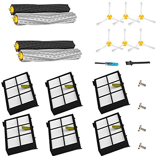YOKYON Replacement Parts Kit for Iobot Roomba 800 and 900 Series 805 860 870 871 880 890 960 980 981 985 Vacuum Cleaner Accessories Including Debris Extractor Set,Side Brush and Hepa Filters