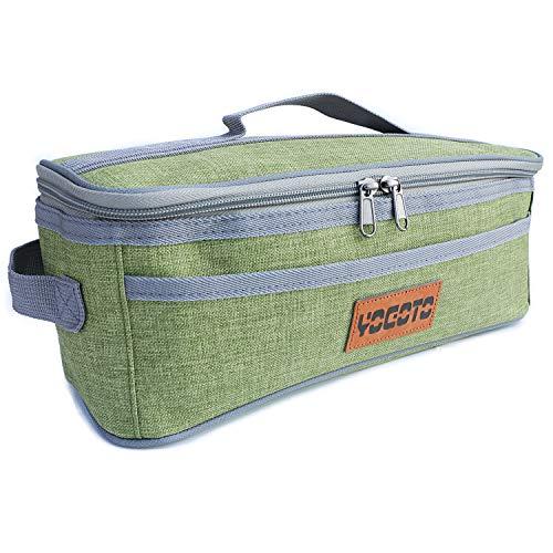 【YOGOTO】 クッキングツール ボックス 調理器具 入れ 調味料ケース アウトドア 収納バッグ バーベキュー キャンプ キッチンツールボックス コンテナ (グリーン)