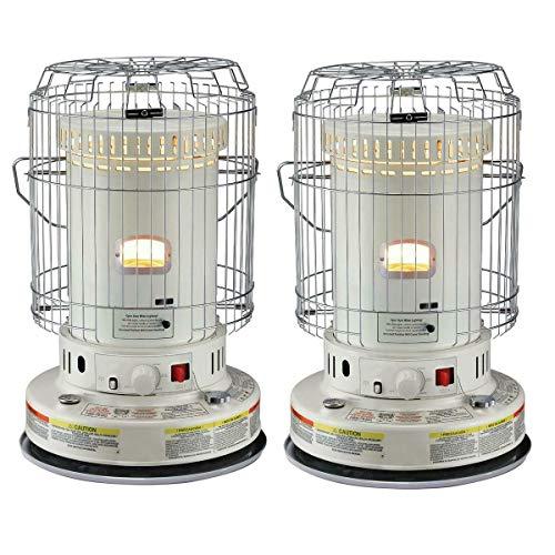2-Units Portable Indoor Kerosene Heater, 23,800-BTU Convection Space Heaters