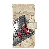 PU手帳型 カードタイプ スマホケース AQUOS sense3 plus (SHV46・SH-RM11・901SH) 対応 地図・ロンドン マップ フィルム SHARP シャープ アクオス センススリー プラス au SoftBank SIMフリー スマホカバー 携帯ケース スタンド map 00l_186@03c