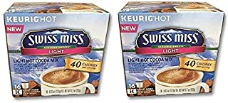 32 Count - Swiss Miss Sensible Sweets Light Hot Cocoa K-Cups for Keurig K Cup Brewers (Packaging May Vary)