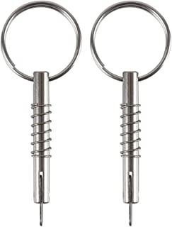 2 Pack Quick Release Pin w/Drop Cam & Spring, Diameter 1/4