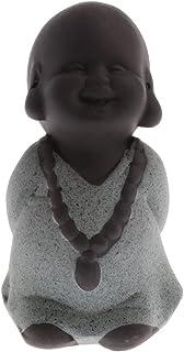 ZLBYB 1 Piece Tea Pet Purple Sand Little Monk Buddha Tea Pet Figurine Statue Ornament