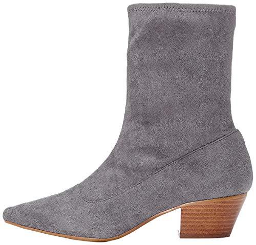 find. Stiefel Damen geschlossen mit Wildleder-Optik , Grau (Grey), 38 EU