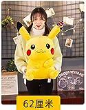 N/B Ypzz Pikachu Poupée Poupée Enfant Cadeau d'anniversaire Pokémon Bikachu en Peluche Mignon Jouet en Peluche-62Cm