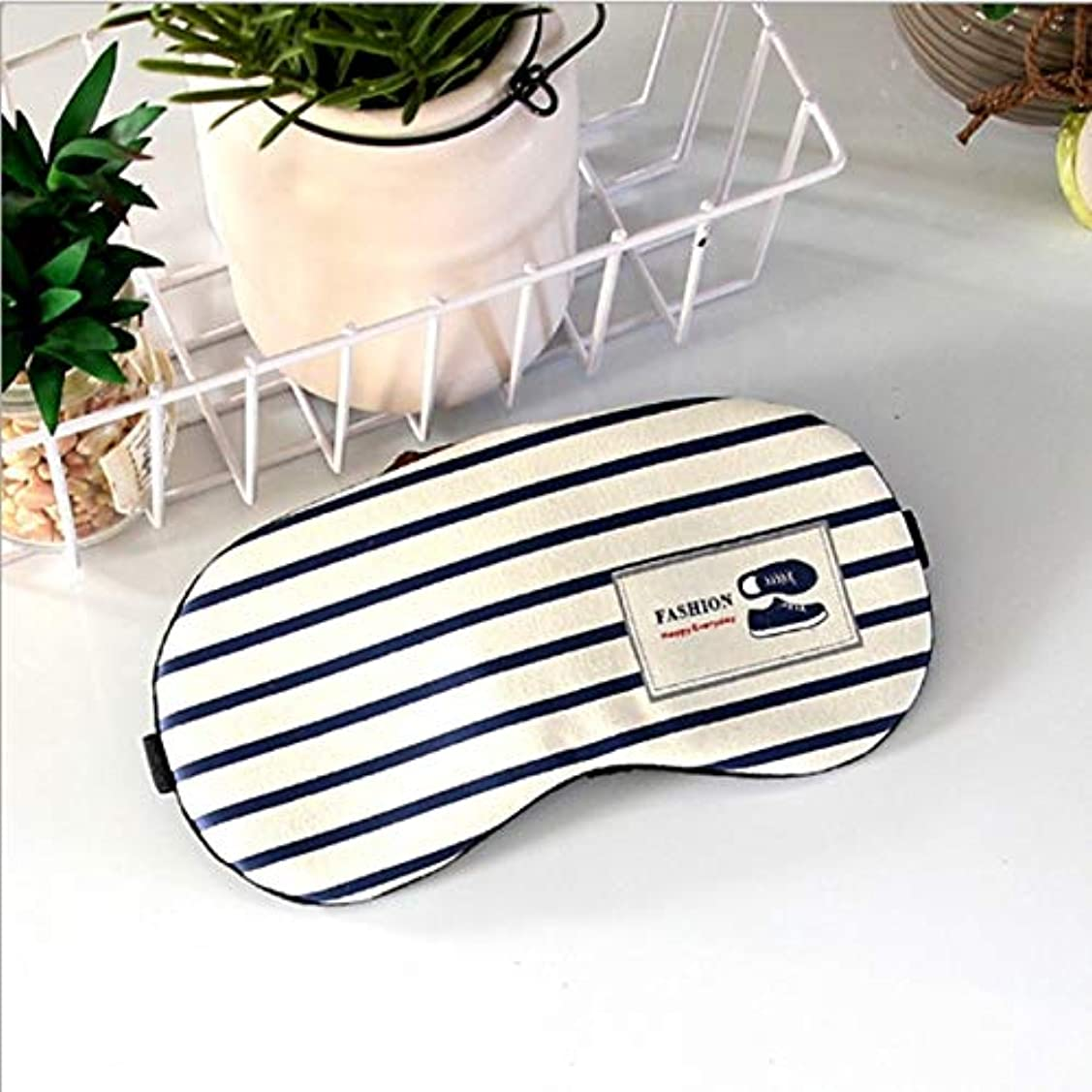 禁止する技術的なおとこNOTE ソフトアイスリーピングマスクカバーアイパッチファッションストライプスタイルアイアンビエントライトクリエイティブ旅行リラックス睡眠補助MP0095