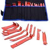 DWT-Germany - Kit di attrezzi per montaggio e smontaggio dei rivestimenti interni, cunei, kit di rimozione per rivestimenti di auto o veicoli vari, modanature, imbottiture e clip