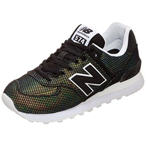 New Balance Damen 574v2 Sneaker, Schwarz (Black), 40.5 EU