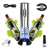 Aitsite Apribottiglie Elettrico Cavatappi Opener Cavatappi da Vino Deluxe in Lega di Alluminio con Tappo del Vino/Versatore/Cavatappi/Cavo di Ricarica