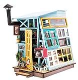DIY Haus Bausatz Basteln Miniatur Puppenhaus Dekoration Kreative Geschenkidee mit LED Licht Bunt...