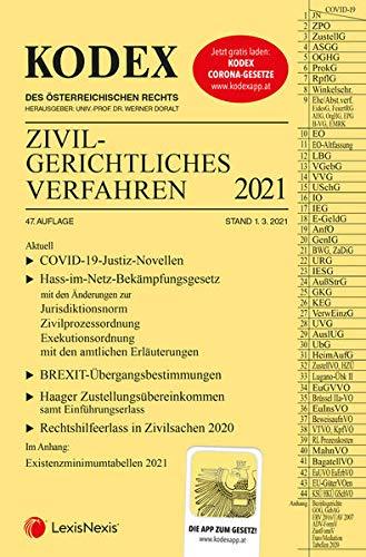 KODEX Zivilgerichtliches Verfahren 2021