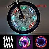 WFBP Luces de radios de fácil instalación Rueda de Ciclismo habló luz Luz de la llanta de Bicicleta Obtén un 100% de Brillo y Visibilidad Desde Todos los Ángulos,Rosado,10PCS