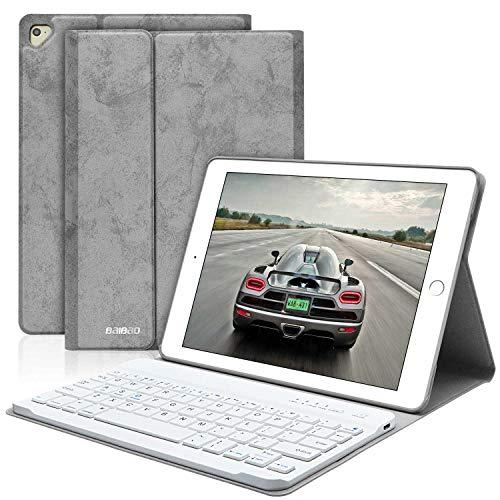 iPad Keyboard Case 9.7 for iPad 6th Gen 2018,iPad 5th Gen 9.7 2017, iPad Pro 9.7,iPad Air 2,iPad Air,Detachable Bluetooth Keyboard for iPad 6th Gen - iPad 9.7 inch Case with Keyboard (Grey)