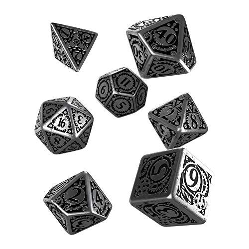 Q WORKSHOP Metal Steampunk Dice Set 7 Polyhedral Pieces
