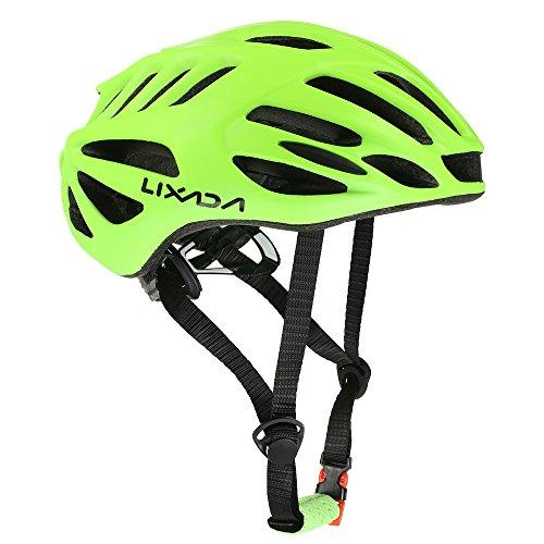 Lixada Ciclismo Caschi 32 Prese d'Aria Ultraleggero Casco da Ciclismo con Fodera per Fodera Bicicletta di Montagna Unisex Casco Regolabile (Giallo)
