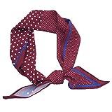 Dabixx Summer Silk Feeling Pañuelos de Pelo para Mujer con Estampado de pañuelos Cortos Short Scarve - Rojo 1#