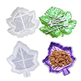 2 Pack Leaf Ashtray Epoxy Resin Molds, Irregular Dish Plate Silicone Maple Leaf Tray Moulds for DIY Art Craft Casting Making Jewelry Storage Box Container Home Decor Making Supplies
