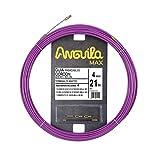 Anguila 65040021 Guía pasacables cordón Acero+Nylon, Lila, 21 Metros
