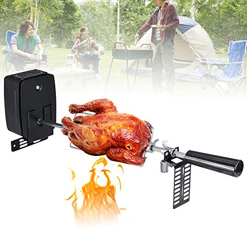 NICECHOOSE Rotisserie Kit, Heavy Duty Stainless Steel Universal Complete Grill Rotisserie Kit with Electric Motor for BBQ Spit Rod Meat Forks - US Shipping