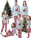 Pijamas Mujer Camisón Navidad Navidad Pijamas A Juego De La FamiliaNiños Niños para Renos De Padres E Hijos Regalo De Año Nuevo 7T Multi