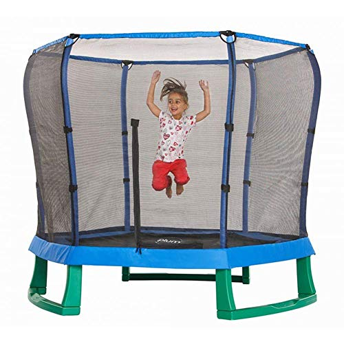 LuoMei Hexagon Trampoline Gym with Safety Enclosure Outdoor and Indoor Trampoline for Kids Indoor/Garden/Workout