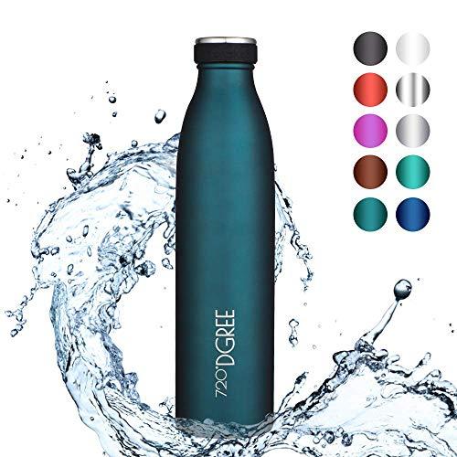 """720°DGREE Premium Edelstahl Thermo Trinkflasche """"milkyBottle"""" – 350ml, 500ml, 750ml, 1000ml - Doppelwandige Isolierflasche, Auslaufsicher"""
