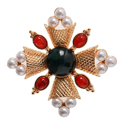 GRACEART Antico Perla Pietra preziosa Spilla Perno (Style#3)