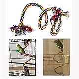 HEEPDD Pájaro, Perca, perico, Colgante, Colorido, algodón, Cuerda, Columpio en Espiral, Escalada Ajustable, Juguetes de pie con Campana para desarrollar la coordinación y el Equilibrio de Las Aves