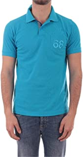 SUN 68 Luxury Fashion Mens A3010513 Light Blue Polo Shirt |