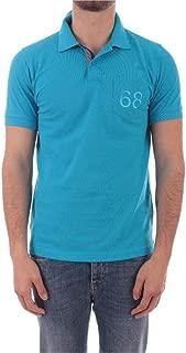 SUN 68 Luxury Fashion Mens A3010513 Light Blue Polo Shirt | Spring Summer 20