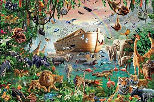 XZJXGZ 1000 Pieces puzzel volwassen Decompression Noah's Ark en dieren 70x50cm puzzel Kinderen Educatief speelgoed DIY huisdecoratie