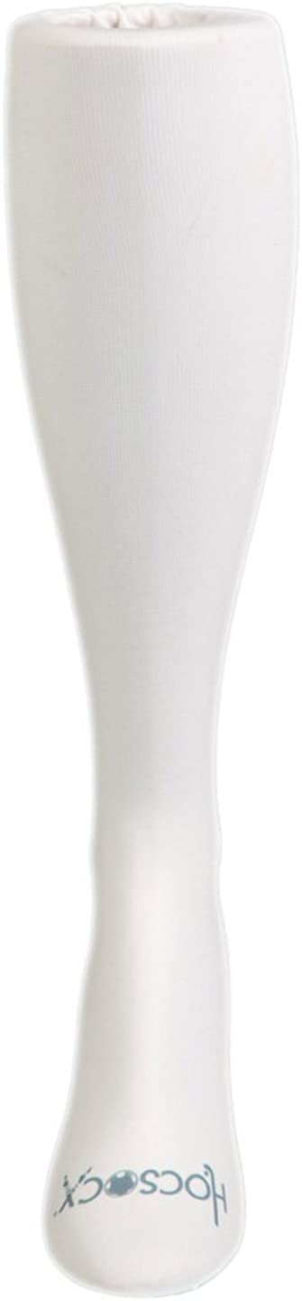 HOCSOCX BOY'S/MEN'S SOLID COLOR SHIN GUARD LINER SOCKS (SMALL/MEDIUM, ALL WHITE)