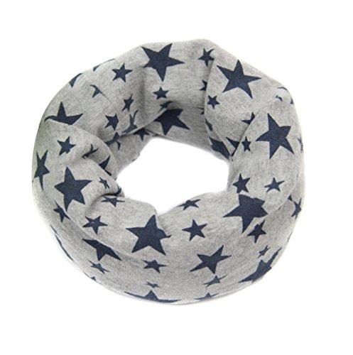 ZUMUii ZUMUii Butterme Unisex-Baby Baumwolle Neck Warmer Halstuch Kinder Weiche Hautfreundlicher Sterne-Printing Niedlich Schal für 1-8 jährige Kinder