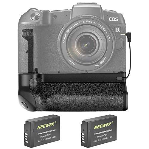 Neewer Empuñadura de Batería Vertical Compatible con Cámara Canon EOS RP DSLR con 2 Paquetes de Batería de Iones de Litio Recargable de Repuesto de 7,4V 1250mAh Canon LP-E17