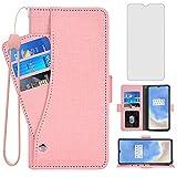 Asuwish Étui portefeuille avec protection d'écran en verre trempé et porte-cartes pour OnePlus 7T...
