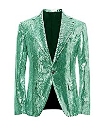 Mint Green/C Splendid Sequins Lapel Tuxedo Jacket