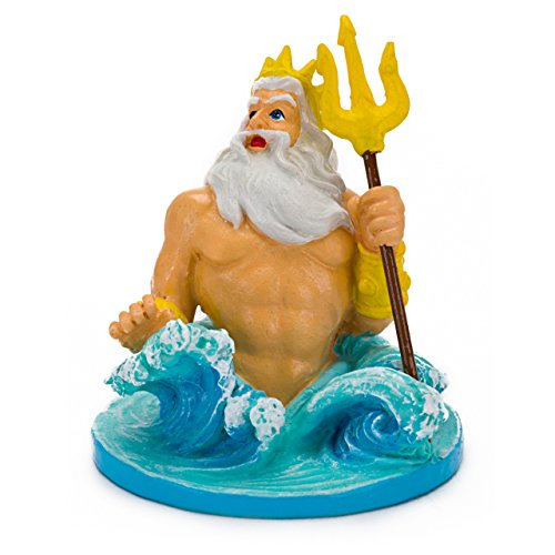 Penn-Plax (LMR76) Disney's Little Mermaid King Triton Aquarium Ornament, Mini