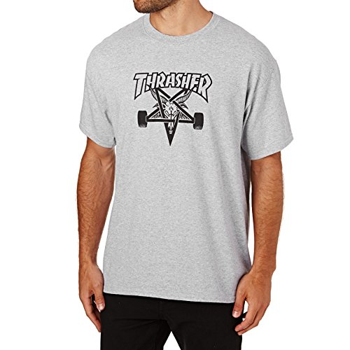 Thrasher Skategoat Herren-T-Shirt M Grau