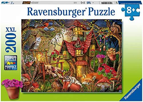 RAVENSBURGER PUZZLE 12951 Ravensburger Kinderpuzzle 12951-Das Waldhaus 200 Teile XXL-Puzzle für Kinder ab 8 Jahren, Silver