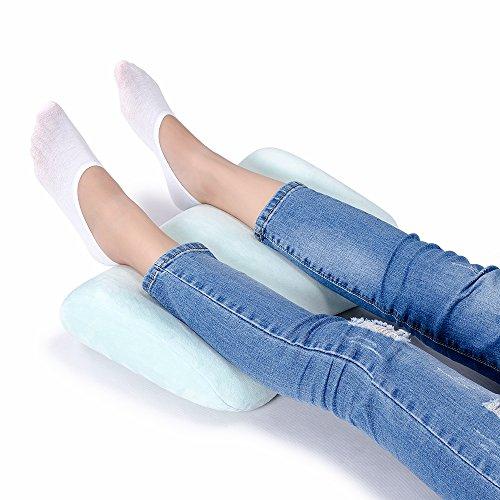 Mkicesky 足枕 足まくら 低反発 フットレスト 足置き フットピロー 足らくらく 膝下枕 足休め 足用クッション 膝まくら ギフト 敬老の日 洗える
