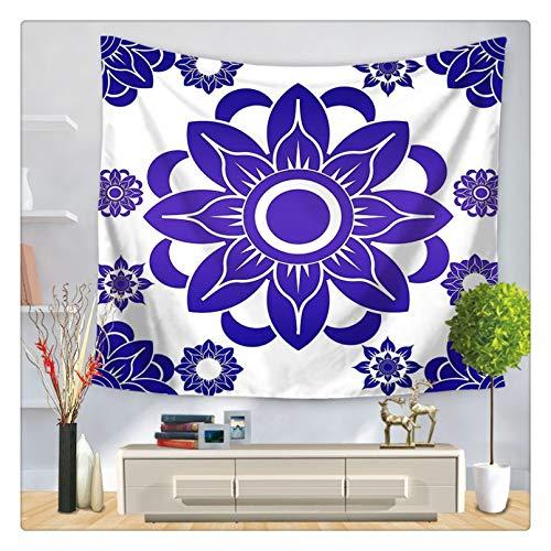 Tapiz decoración Pared Arte tapices Tapiz de Mandala Bohemio Indio para Colgar en la Pared, Manta de Alfombra de Playa de Arena, Tienda de campaña, colchón de Yoga de Viaje, Tapiz de Mandala