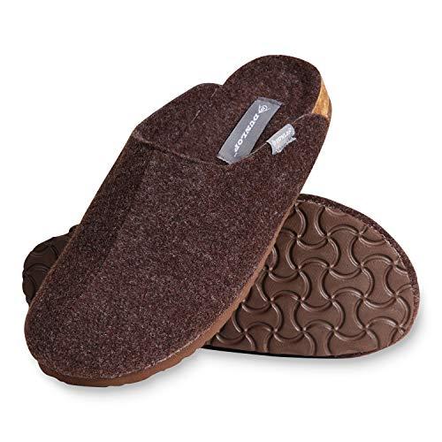 Dunlop Zapatillas Casa Hombre, Pantuflas Hombre Suaves, Zapatillas Hombre con Suela Antideslizante Interior Exterior, Regalos para Hombres y Chicos Adolescentes (Marron, Numeric_44)
