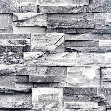 Slate Effect Scrubbable Wallpaper J27409 Amazon Co Uk Diy Tools