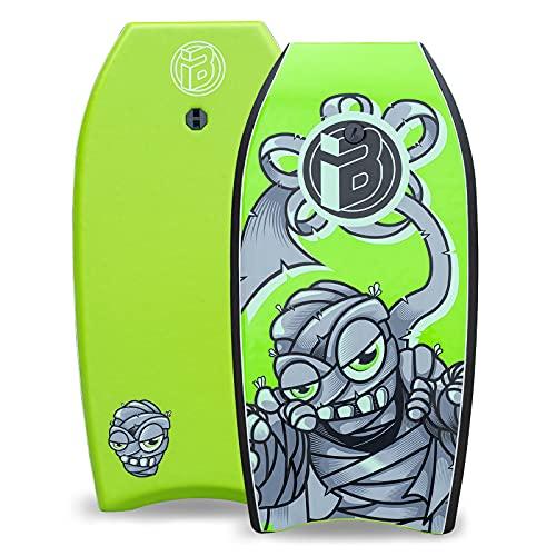 iBOARD Tabla de cuerpo, bodyboard ligero de 33 pulgadas con cubierta de EPS, correa de alta calidad y correa de muñeca para surf para niños