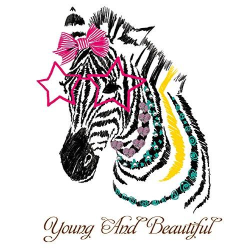 Winhappyhome Beautiful Zebra Wall Art Stickers pour Chambre à Coucher Salon TV Chambre d'enfant Fond Amovible Décoration Stickers