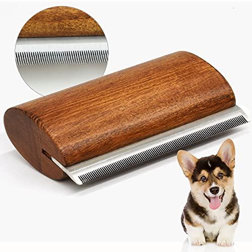 onebarleycorn – Hundebürste,Ergonomischer Holz Design deShedding Pflege Werkzeug, Professional Pet Pflegebürste für Hunde, Katzen (5 inch)