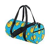 MyDaily Sporttasche Cartoon-Doodle gelb Huhn Reisetasche für Männer und Frauen