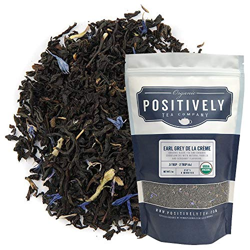 Positively Tea Company, Organic Earl Grey De La Crème, Black Tea, Loose Leaf, 16 oz. Bag